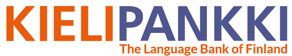 The Language Bank of Finland logo, bilingual, text only