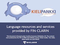 Presentation of FIN-CLARIN and the Language Bank of Finland (pdf)