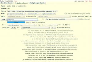 Trovan Single Layer -hakuesimerkki, jossa käytetään säännöllisiä lausekkeita ja etsitään n-grammeja