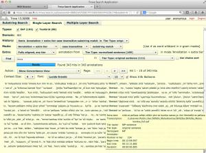 Trovan Single Layer -hakuesimerkki, jonka tuloksiin yhdistetään ylimääräinen annotaatiokerros